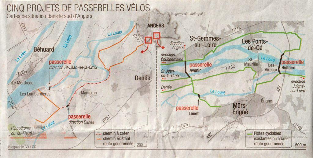Infographie : 5 projets de passerelles vélos