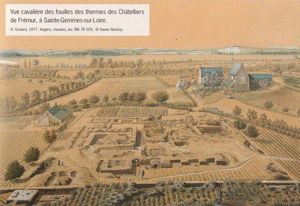 Fouilles des Thermes de Ste Gemmes sur Loire