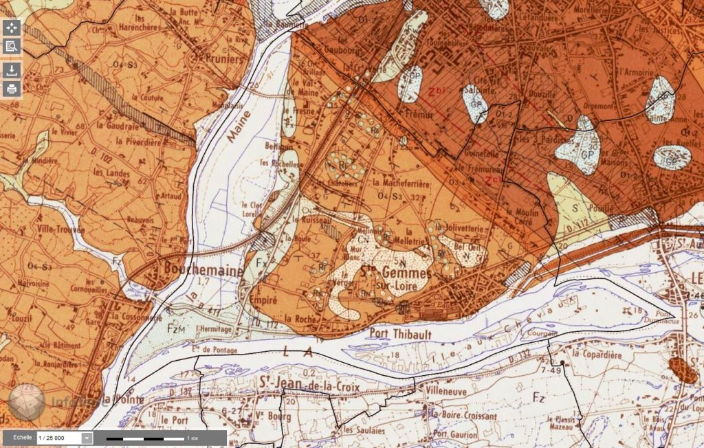 Contexte géologique de Sainte Gemmes-sur-Loire